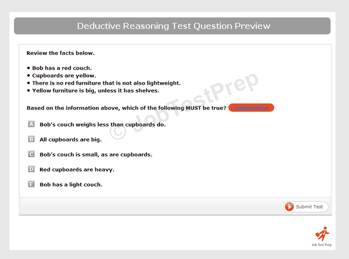 Deductive Reasoning Test Learn And Practice Jobtestprep