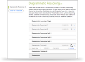 Diagrammatic Reasoning Test Account Preview