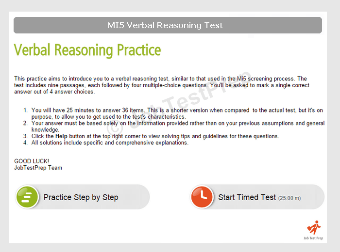 Mi5 Online Tests Verbal Reasoning And Assessment Centre