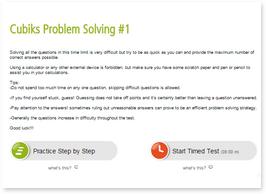 Test problem solving