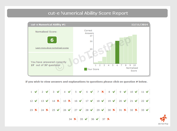 cut-e style verbal style score report