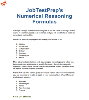 numerical reasoning test questions