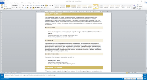 Microsoft Word Tests Key Features