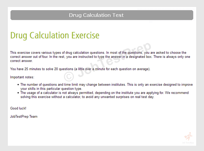 Drug Calculations Tests For Nurses Paramedics And