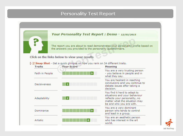 personality online quiz