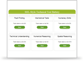 CEB's SHL style Technical Test Battery Account
