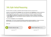 SHL-style Verbal Reasoning Test Preview