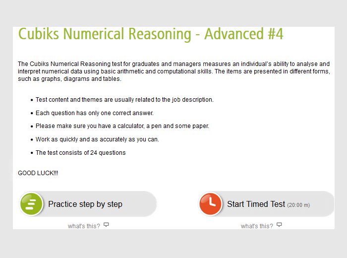 Graduate Numerical Reasoning Tests Practice