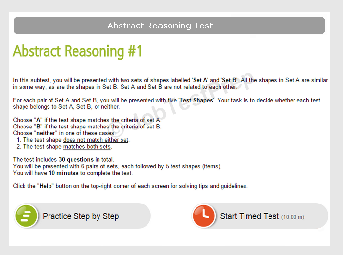 Abstract Reasoning Test Samples Questions Jobtestprep