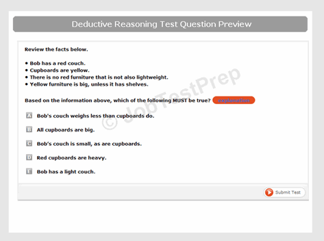 Deductive Reasoning Question Preview