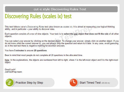 cut-e style Discovering Rules Test (scale ix)