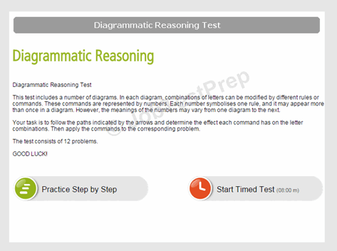 Diagrammatic Reasoning Test Instructions