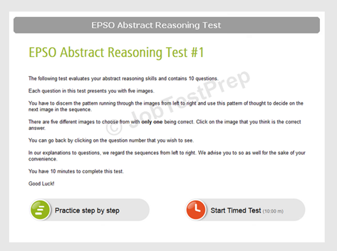 EPSO Abstract Reasoning Test Instructions