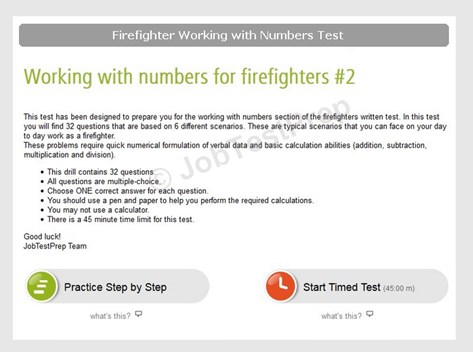 Firefighter working with numbers practice