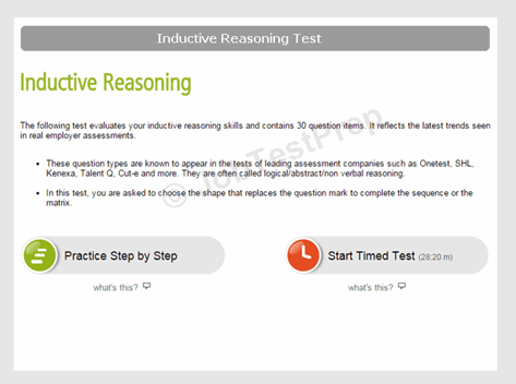 Inductive Reasoning Test Instructions