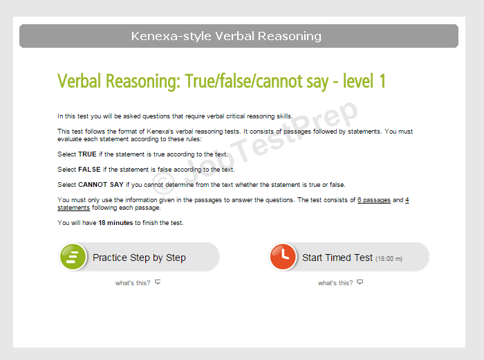 kenexa verbal reasoning test