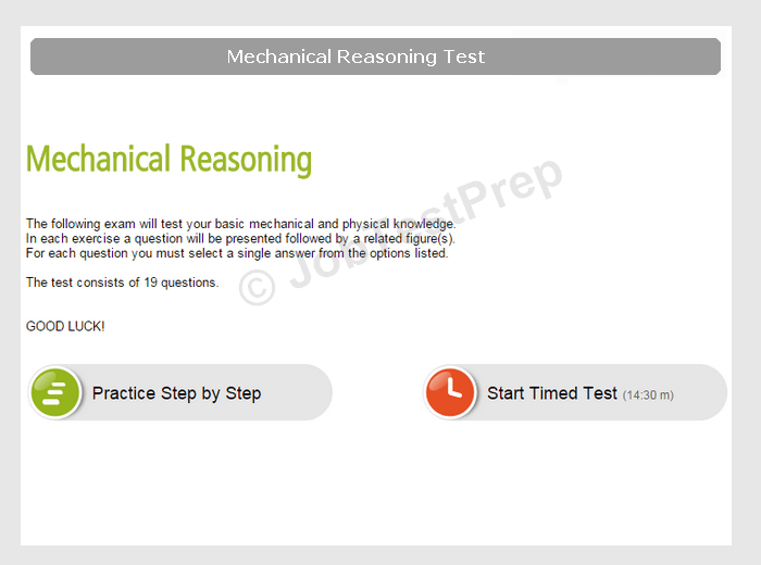 Mechanical Reasoning Test Account Preview