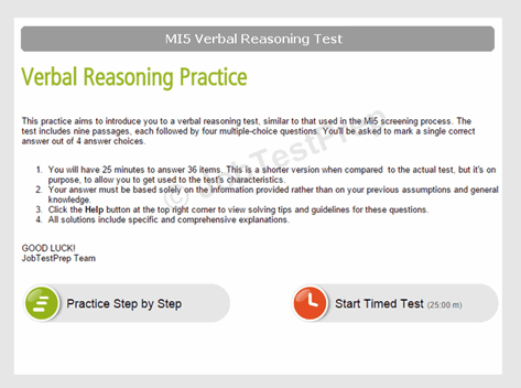 MI5 Verbal Reasoning Test Practice