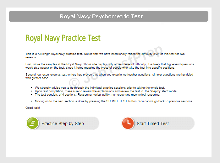 Questions In The Royal Navy Recruitment Test Jobtestprep