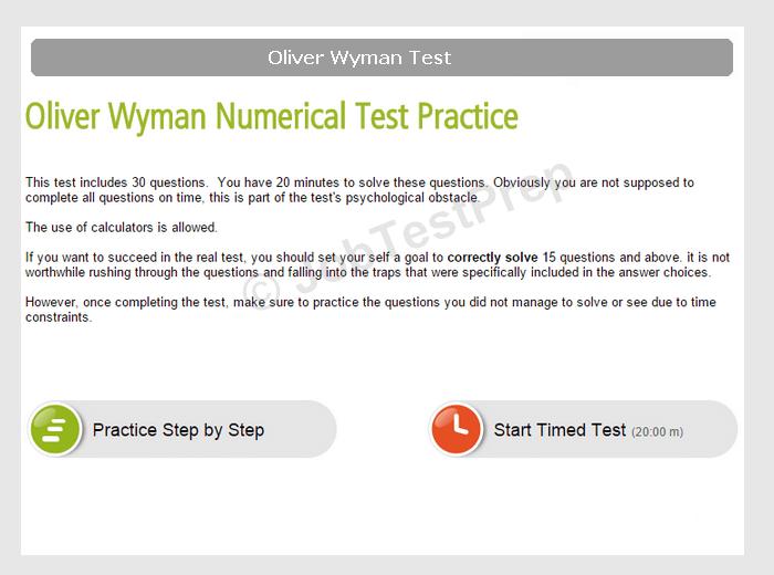 Critical Reasoning Test Oliver Wyman - Prepare for McKinsey PST, BCG