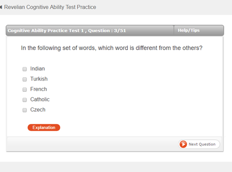 Onetest Cognitive Ability Test Sample Question 1