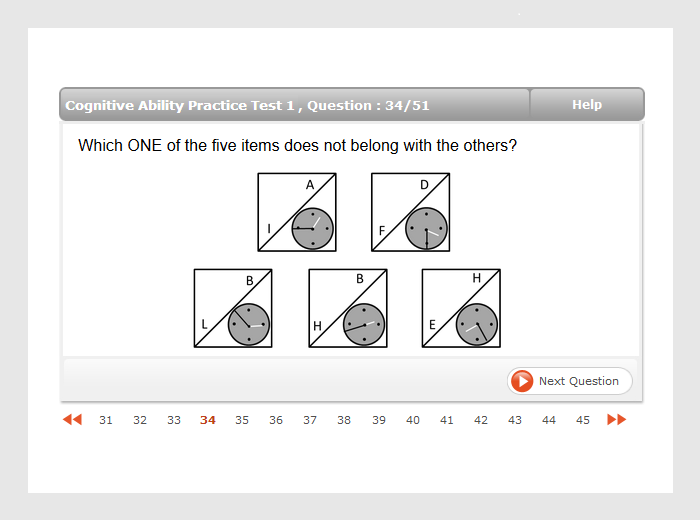 Revelian Cognitive Test on What Is The Answer To This Math Question