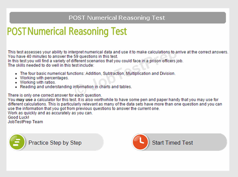 POST Numerical Reasoning Test
