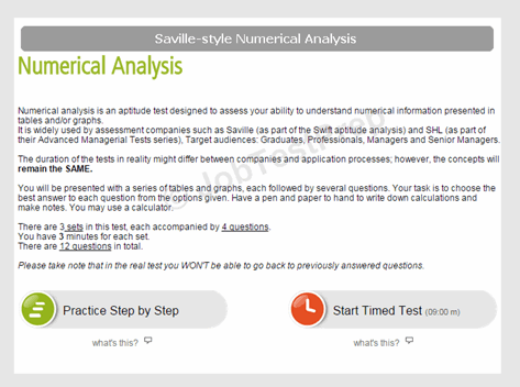 Saville-Style Numerical Analysis Test Instructions