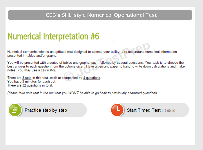 Practise SHL-style Numerical & Verbal Tests (Operational, Sales & Technical  Roles)