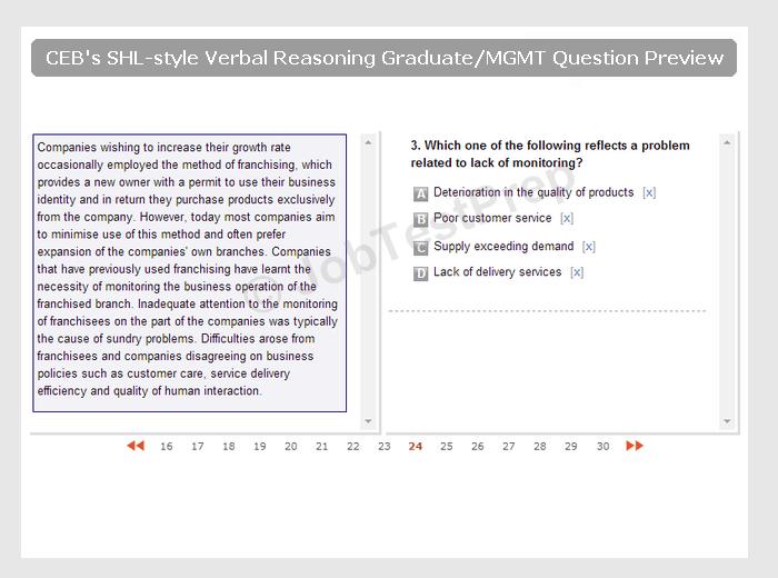Preparation For Shl Verbal Reasoning Tests Jobtestprep