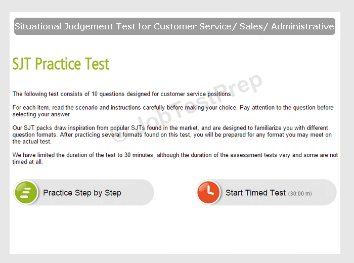 free customer service assessment test