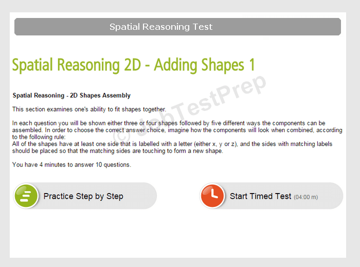 Prepare for Employers' Spatial Reasoning Tests