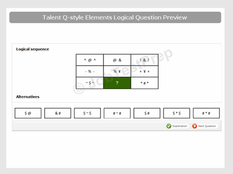 Talent Q style Elements Logical Test Sample