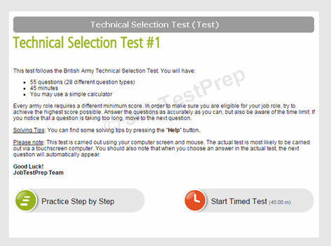 Technical Selection Test
