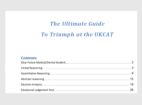 The Ultimate Guide To Triumph At The UKCAT Preview