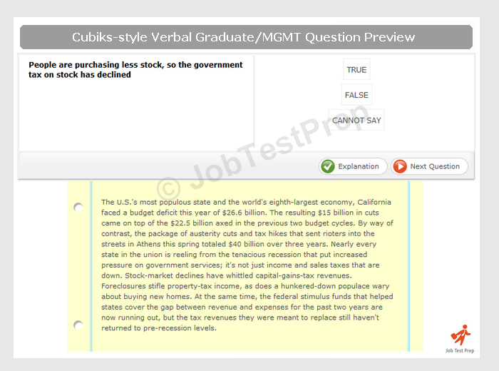 cubiks problem solving practice test