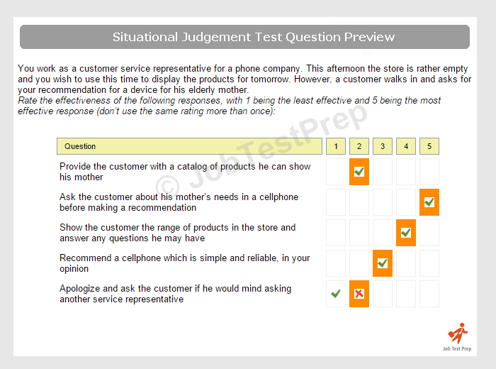 judgement practice questions