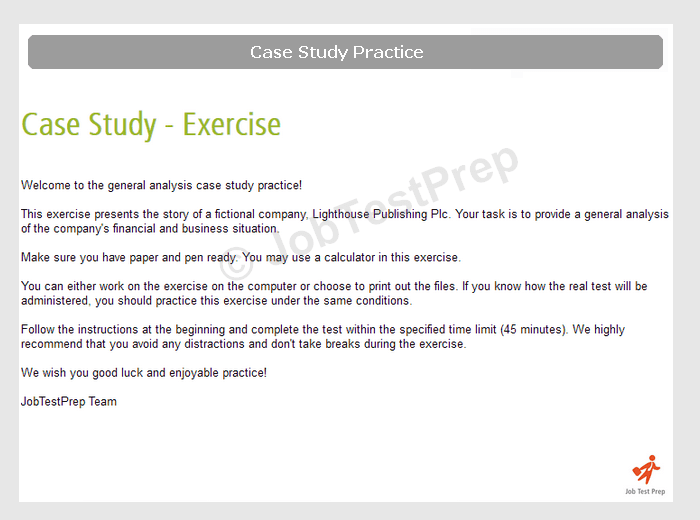 case study interview practice