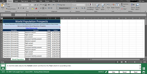 Interactive Test Microsoft Excel Test
