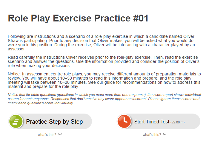 Role Play Exercise Preparation Examples - JobTestPrep
