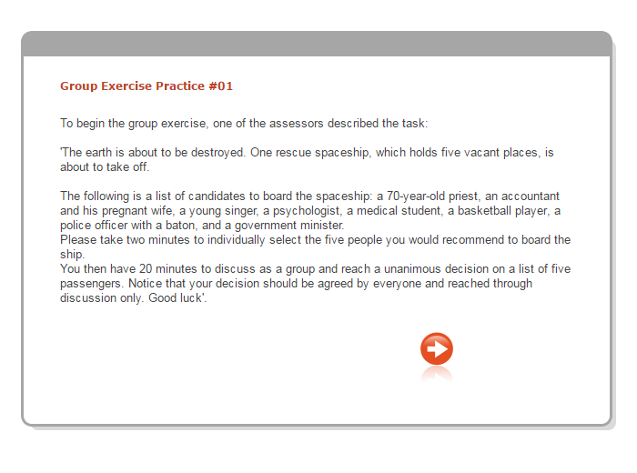 role play exercise preparation examples