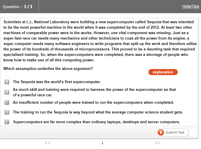 ieGAT Sample Question 2