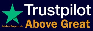 Trust Pilot Excellent review for Jobtestprep